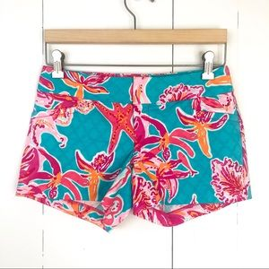 Lilly Pulitzer | Ellie Shorts 00 Teal Pink
